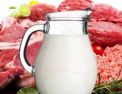 молоко мясо